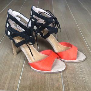 Orange & Black DV Dolce Vita Sandals Sz 8